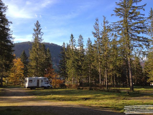 camping pod krokwia góry kamper