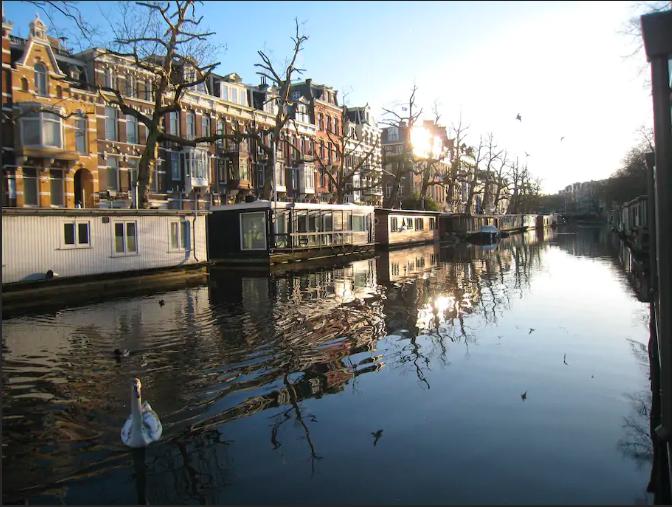 amsterdam barka kanał