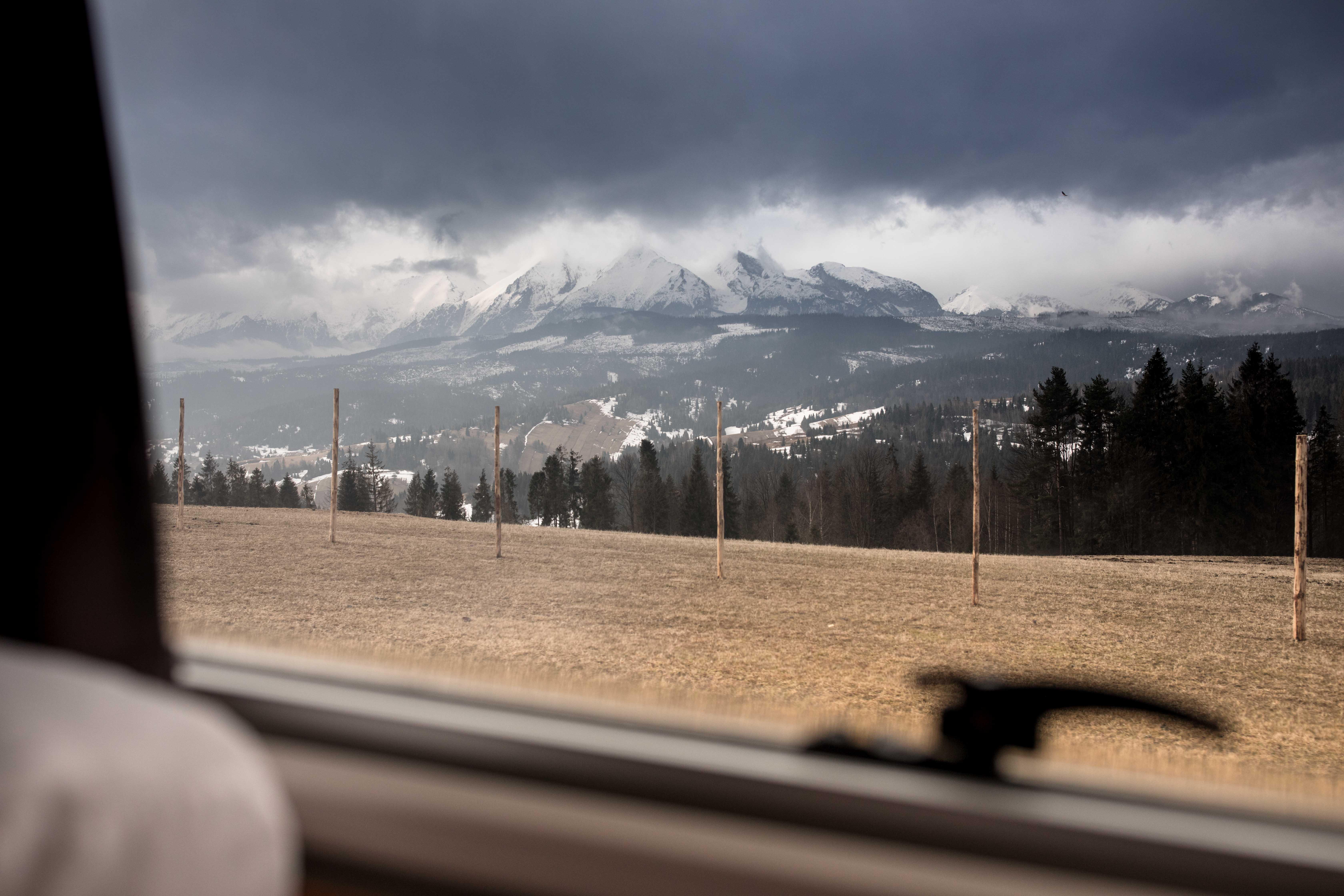 przełęcz nad Łapszanką, góry panorama