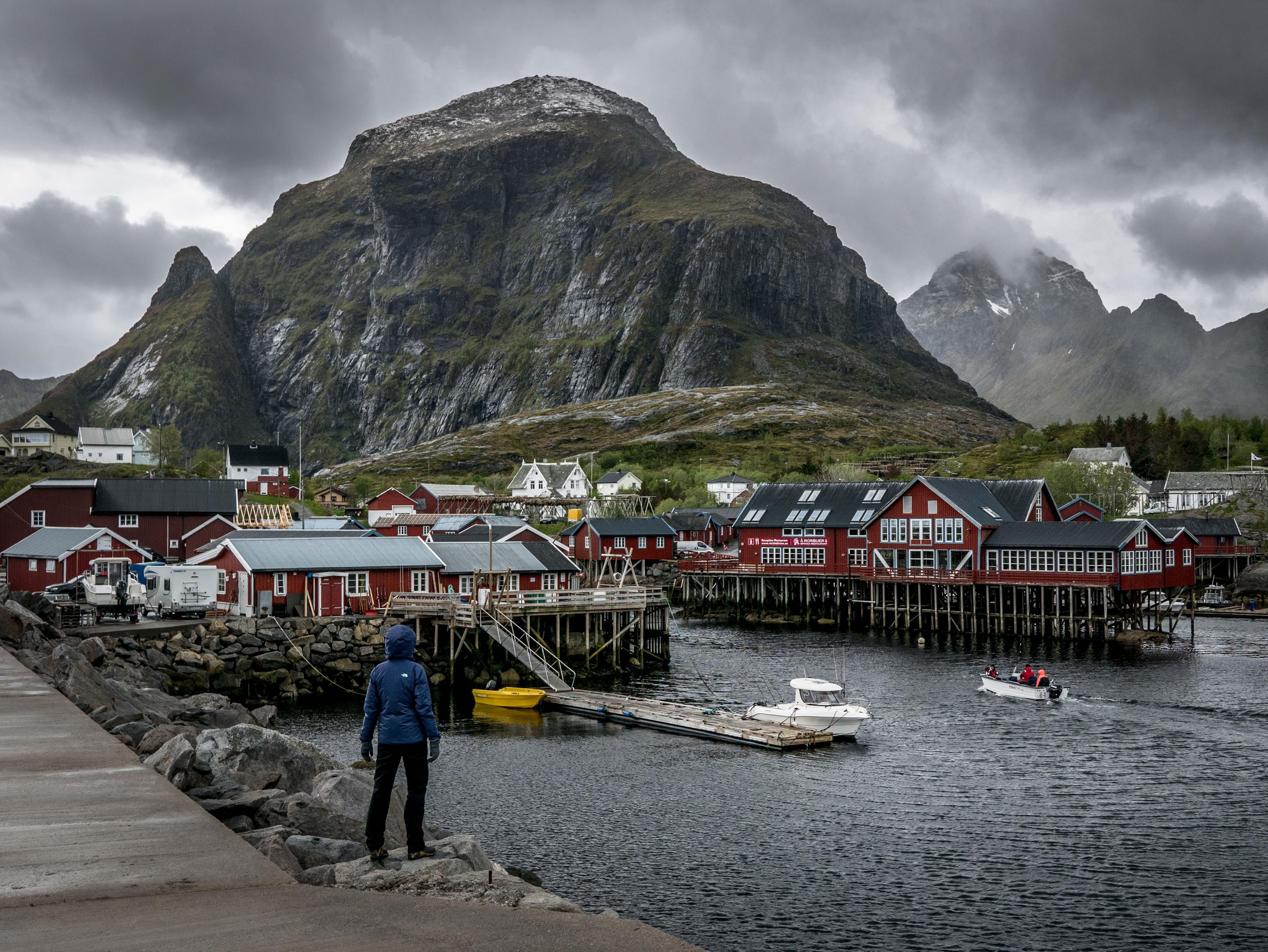 miejscowość Å, Lofoty, Norwegia