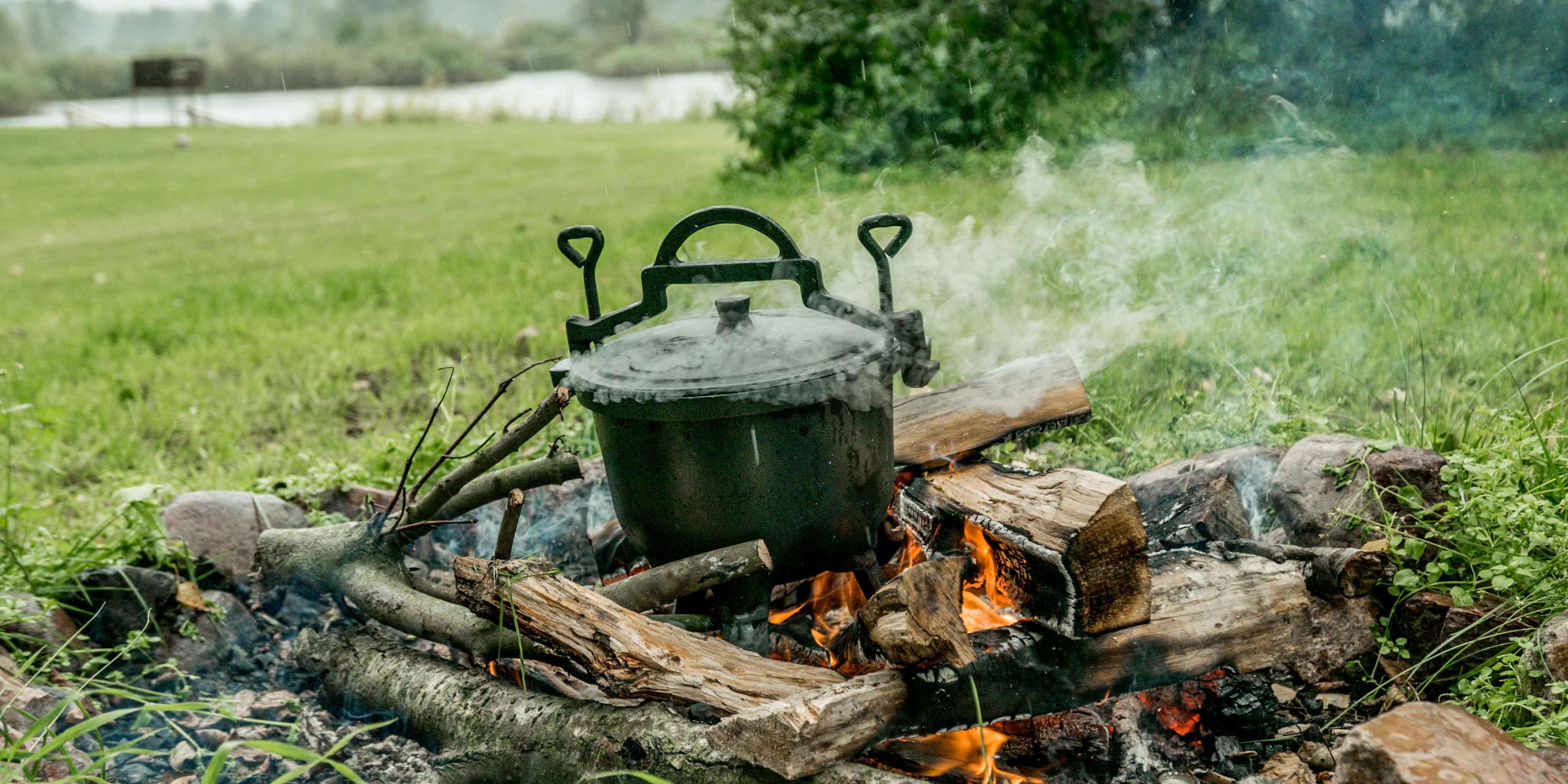 narobiliśmy dymu na cały camping