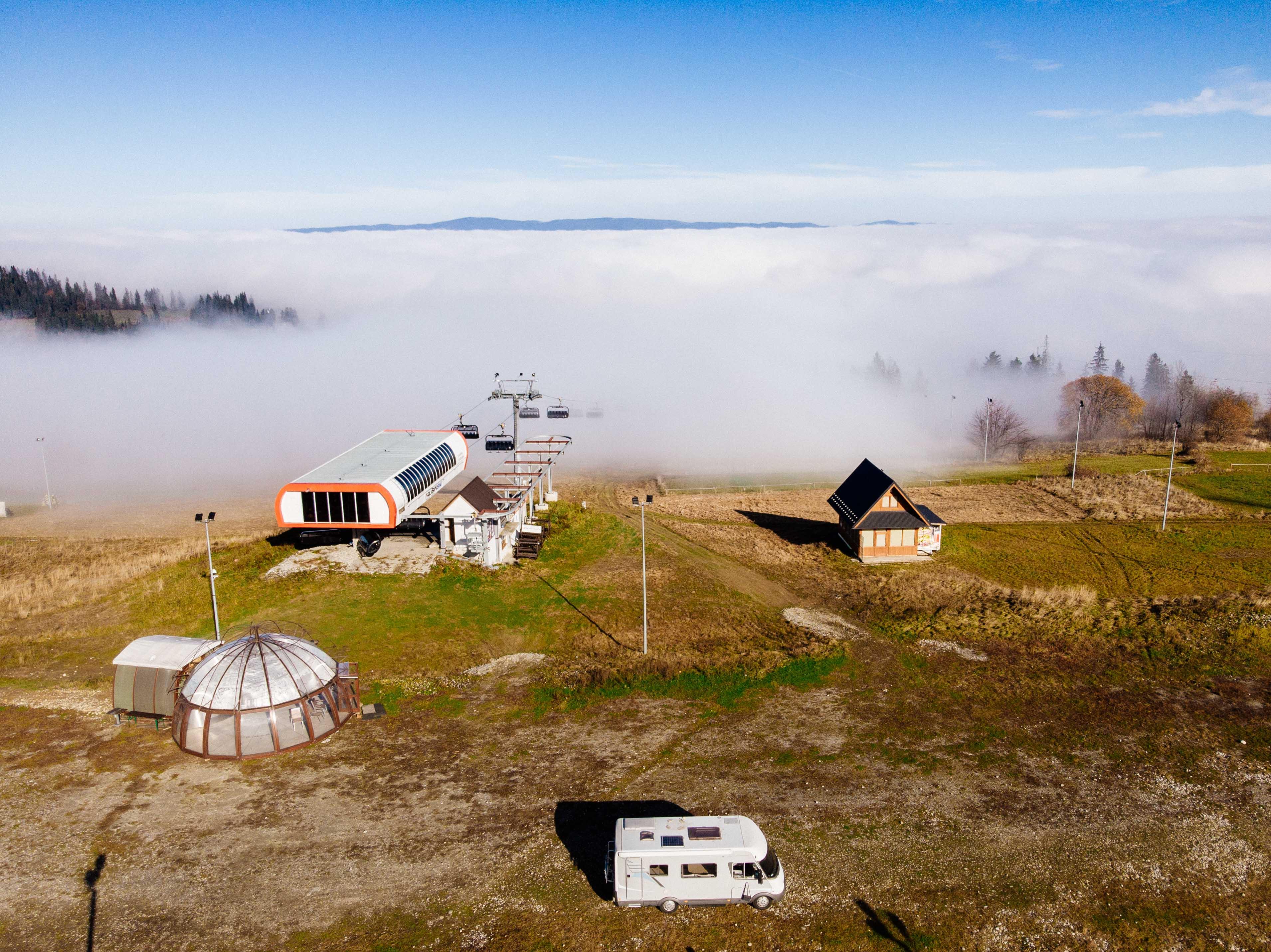 śniadanie z widokiem na Tatry, polska kamperem