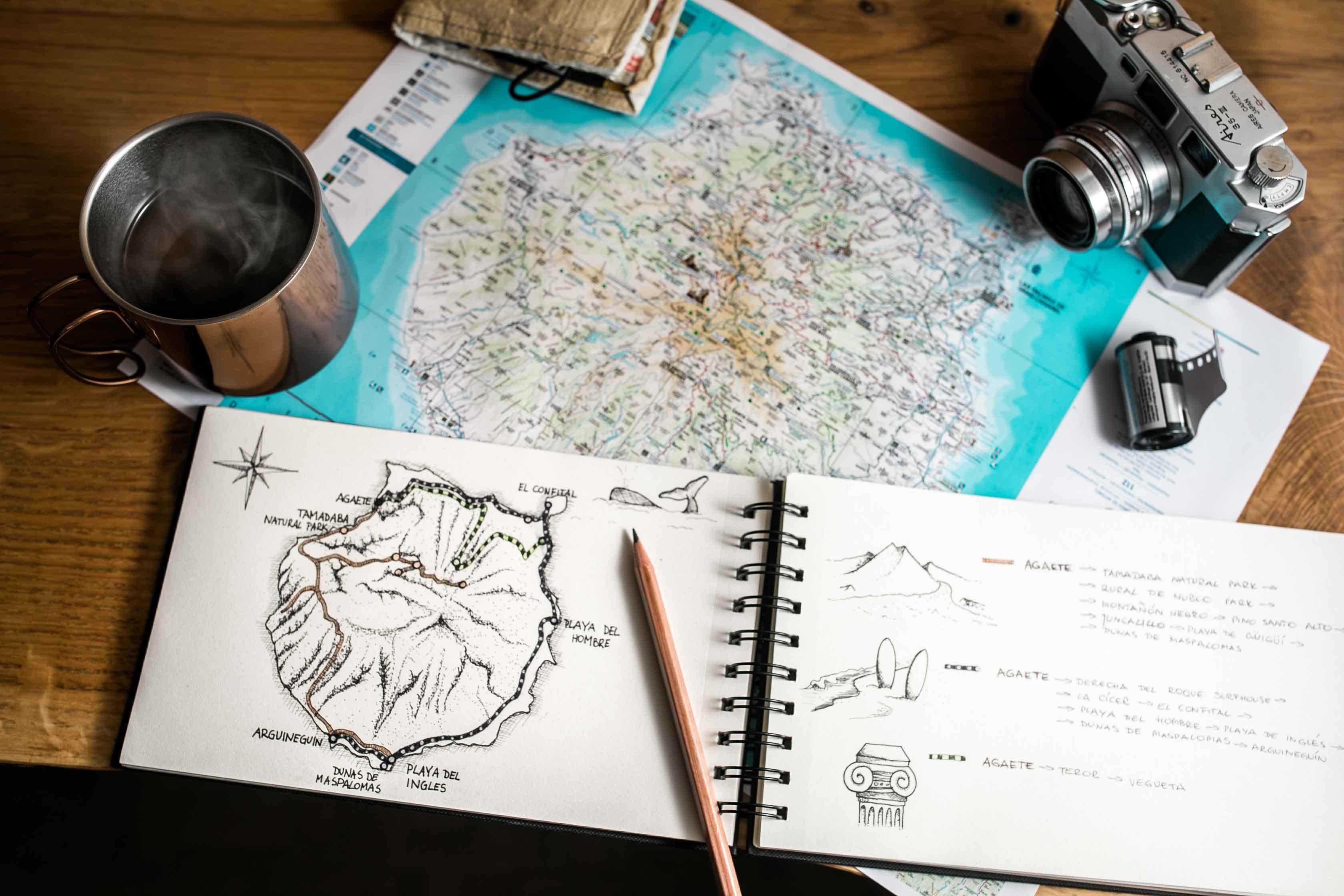 Gran Canaria mapa kawa aparat planowanie podróży