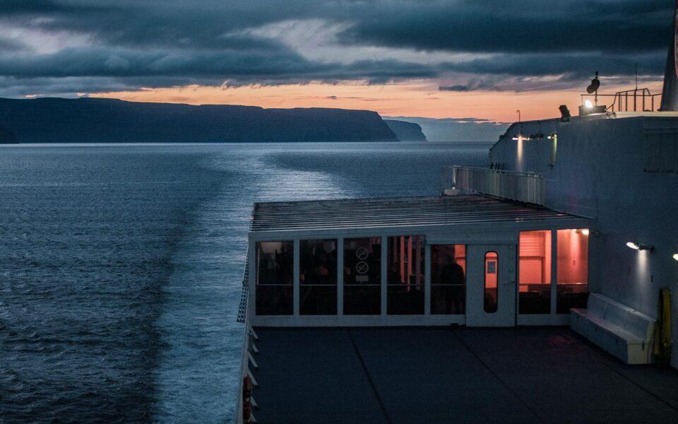 Islandia własnym samochoem, Widok z górnego pokładu promu Smyrilline
