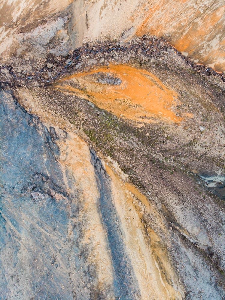 Landmannalaugar, kolory skał