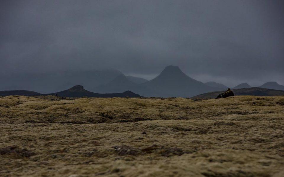 Islandia droga F206, widok na kratery