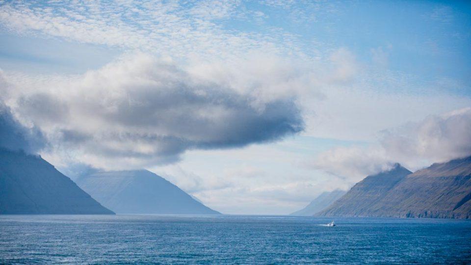 Wyspy owcze z pokładu promu