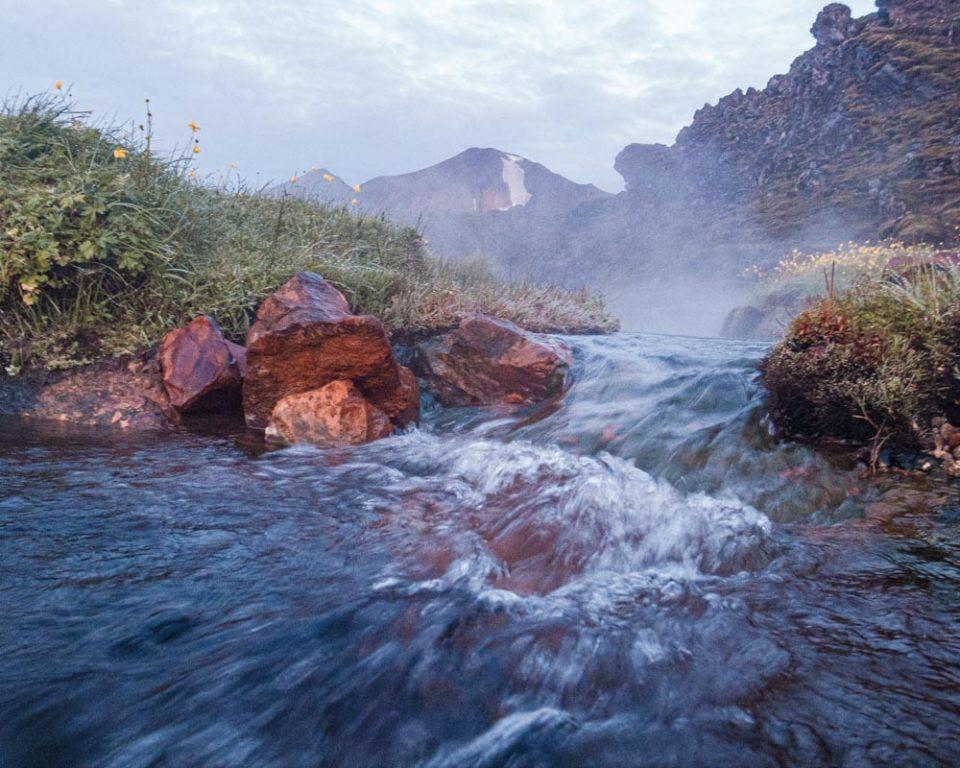 Landmannalaugar, ciepłe źródła