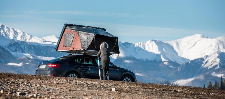 namiot dachowy, namiot na dach