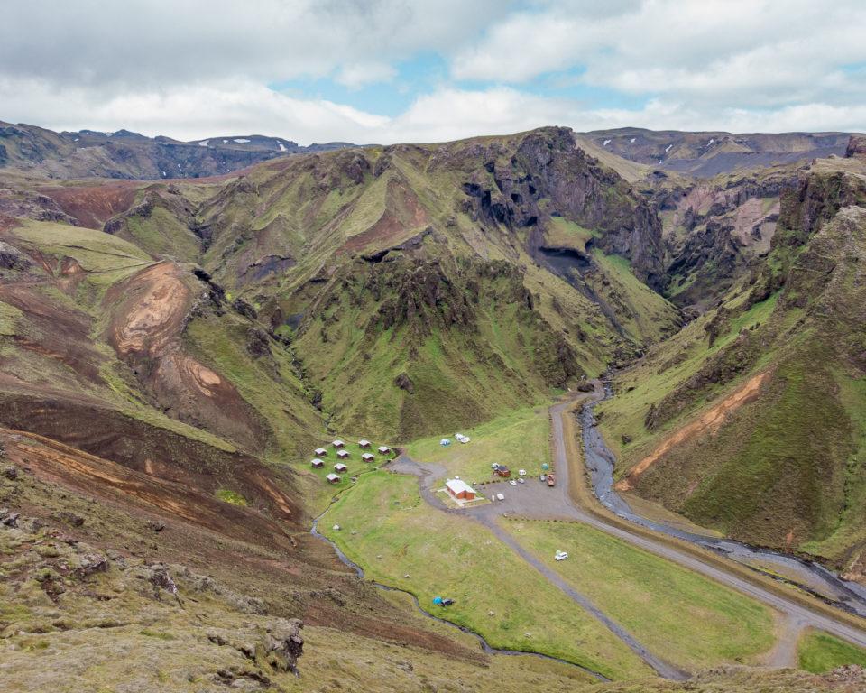 południe Islandii - kemping Thakgil