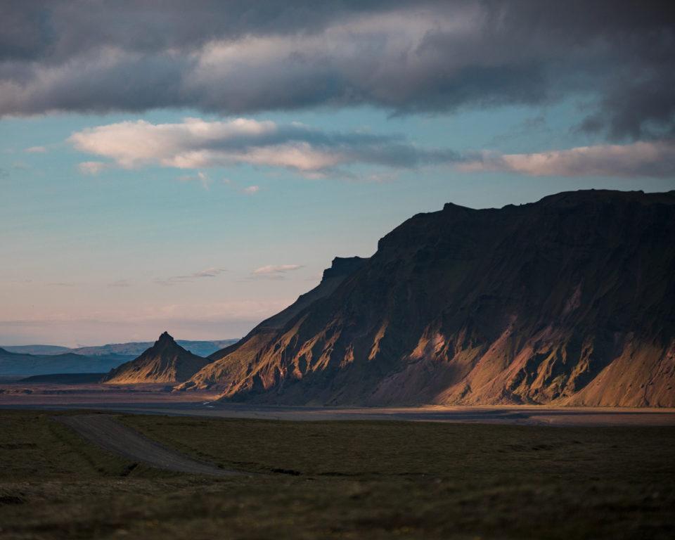 południe Islandii - droga do kempingu