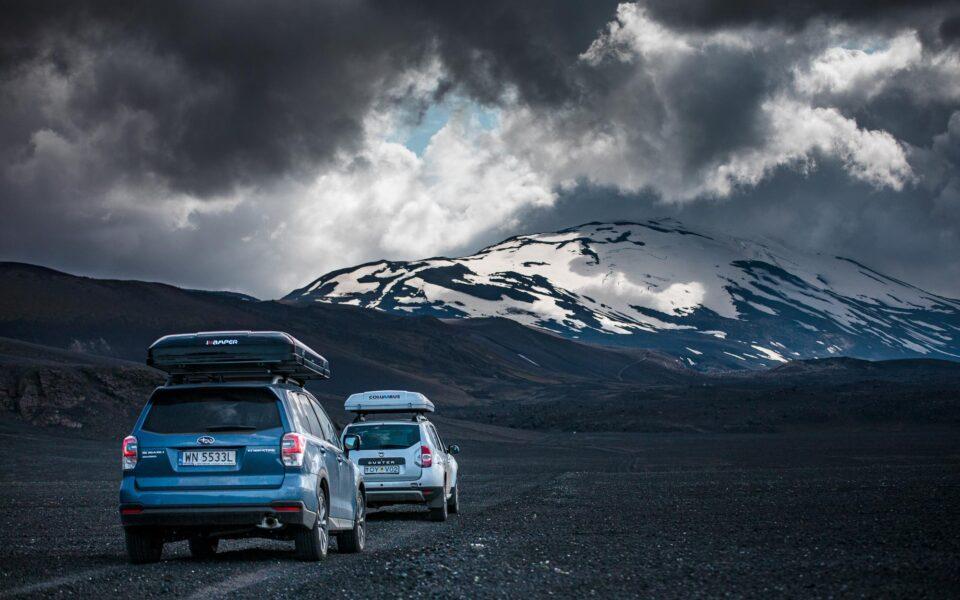 Samochodem po Islandii. Krótka przerwa w drodze na Heklę.