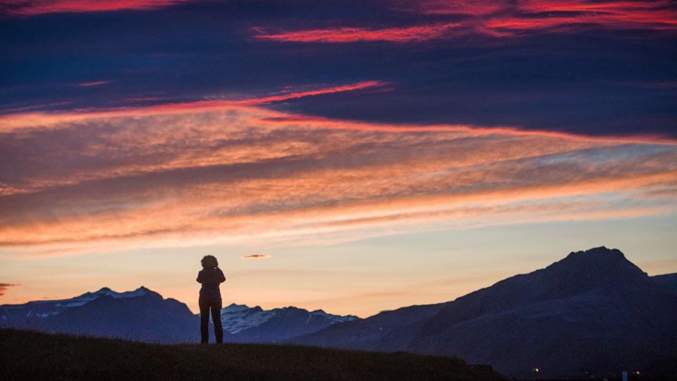 południe Islandii, zachodo-wschód słońca