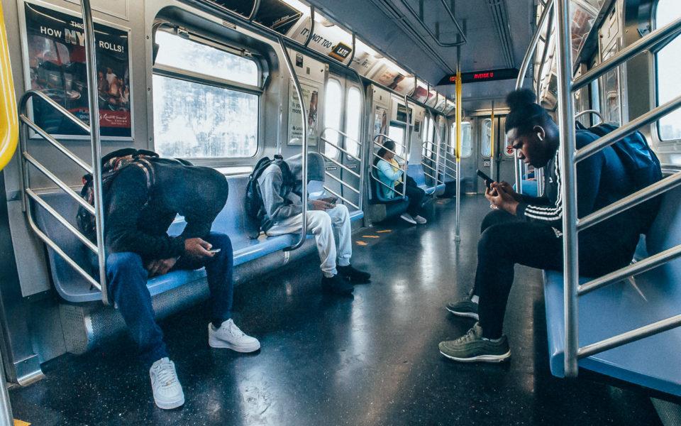 wnętrze metra. Nowy Jork