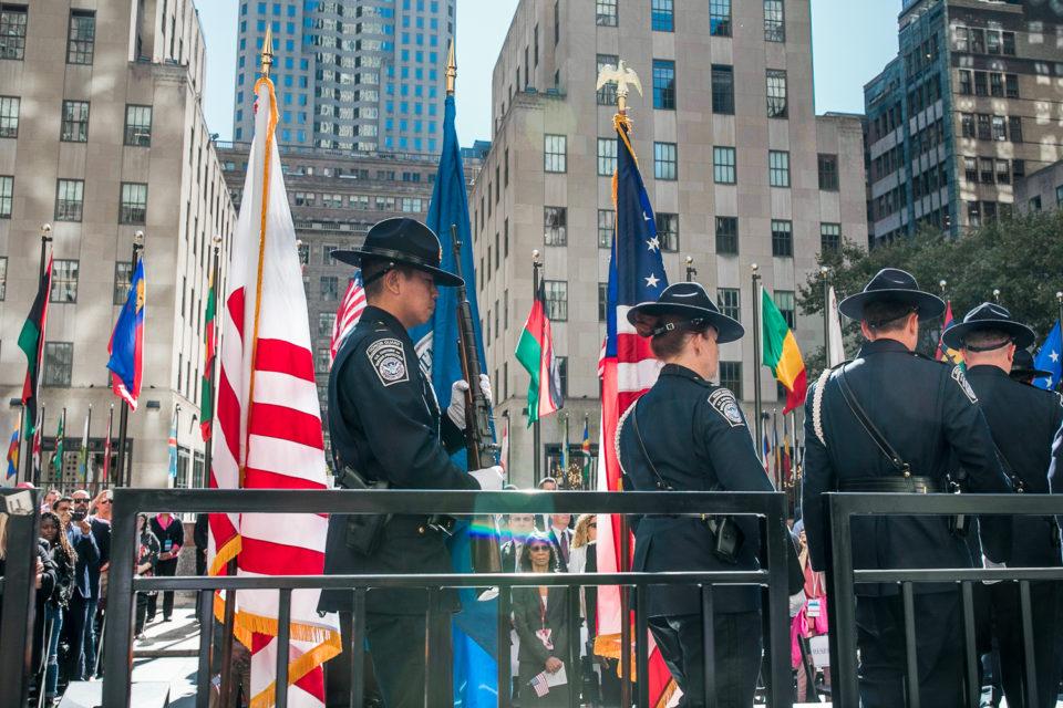 Nowy Jork, uroczystość z żolnierzami