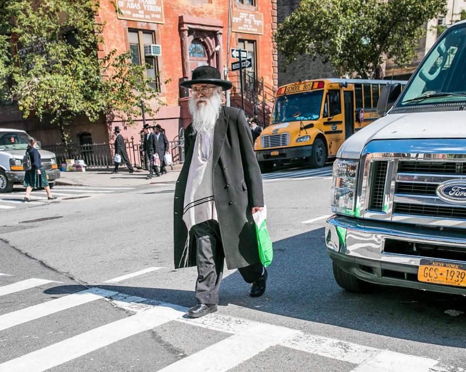 ulica dzielnicy żydowskiej w NYC