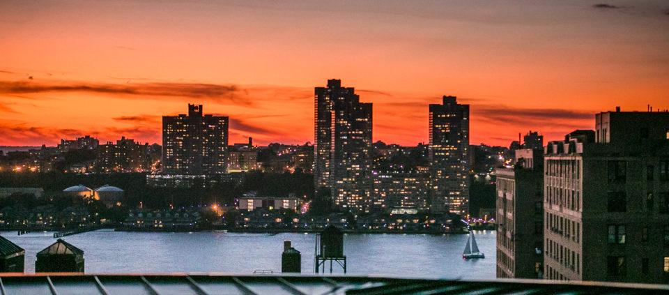 Nowy Jork, widok na rzekę Hudson