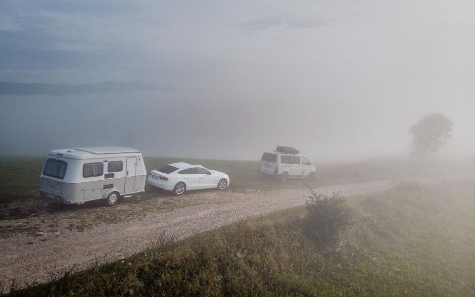 Spisz. Tym razem widok na Tatry zakrywa gęsta mgła