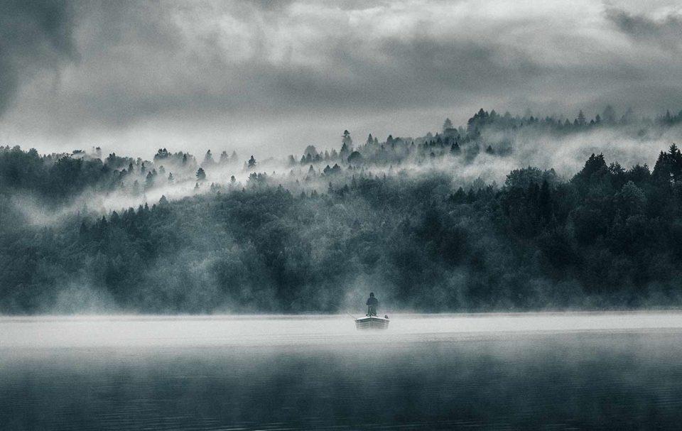 """Spisz. Jezioro Czorsztyńskie z pola namiotowego """"Wyskocz! Na"""""""